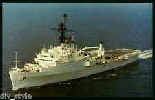 USS Coronado AGF-11 postcard US Navy warship command ship (cd1)