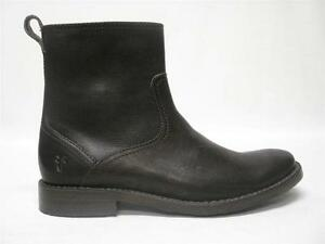 Image is loading NIB-FRYE-OLIVER-INSIDE-ZIP-BOOTS-DARK-BROWN-