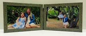 3-5x5-4x5-4x6-5x7-Blue-Aqua-Rustic-Double-Hinged-Horizontal-Wood-Picture-Frame
