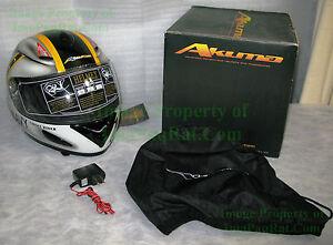 NEW-AKUMA-GHOST-RIDER-Jolly-Rogers-F-14-Tomcat-NAVY-Motorcycle-Helmet-Size-Small