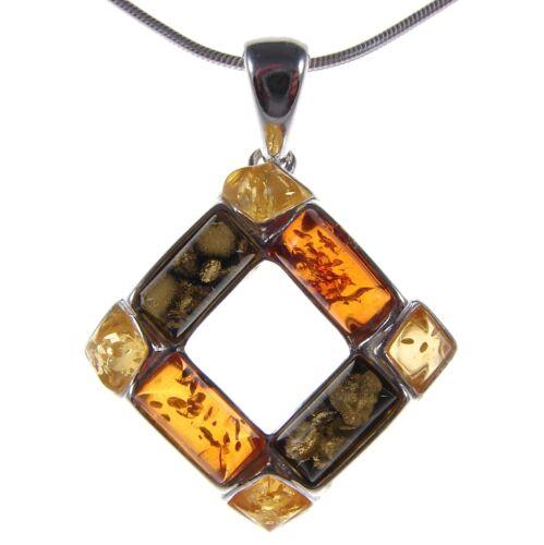 Coffret cadeau Baltic amber sterling silver 925 Femmes Pendentif Bijoux Jewelry