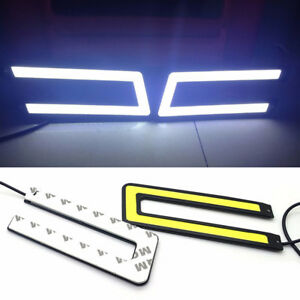 1PC-U-Shaped-12V-LED-COB-Car-Auto-DRL-Driving-Fog-Lights-Daytime-Running-Lamp