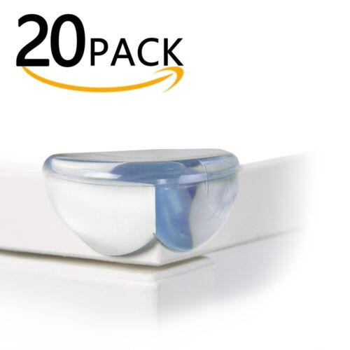 Baby Safety Corner Guards 20 pcs Table Corner Guards for Furniture Clear Sticky