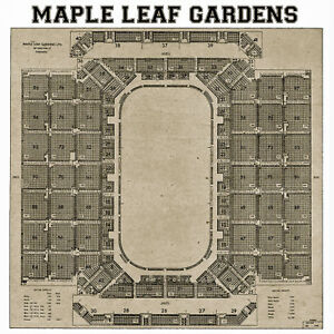Image Is Loading Toronto Maple Leaf Gardens Seating Chart 16x16 Photo