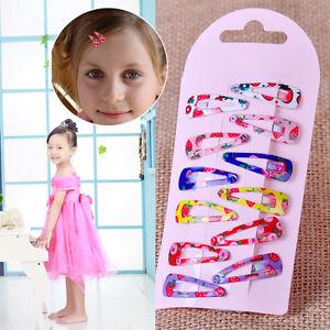 10 Stücke Mode Baby Mädchen Haarspange Nette Haarspange Für Weihnachtsgeschenk