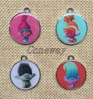Lot Mixed Cartoon Enamel Round Metal Charms Pendants DIY Jewelry Making K201