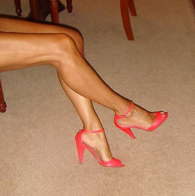 ASOS Shoes Size 4, Amazing Neon Pink Ankle Strap Peep-Toe Heels Worn Once