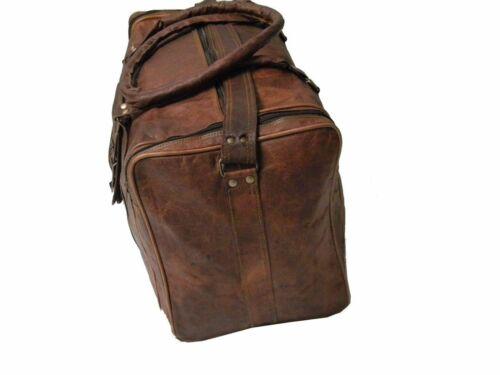 Men/'s Leather Handmade Vintage Duffel Luggage Weekend Gym Overnight Travel Bag