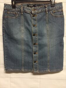 Denim Skirt  Fuentes Dark Pencil Skirt Size 10