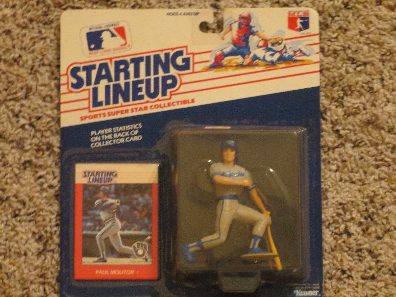 1988 Paul Molitor Starting Lineup baseball    rookie Milwaukee Brewers 4c31c9
