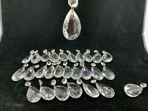 27-Crystal-glass-prism-chandelier-lamp-parts-pear-almond-shape-tear-drop