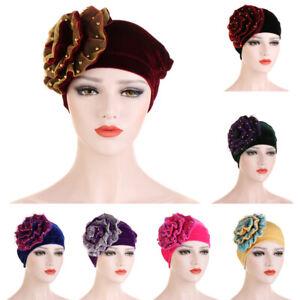 Women-039-s-Big-Flower-Muslim-Cancer-Chemo-Hat-Hijab-Hair-Loss-Head-Scarf-Turban-Cap