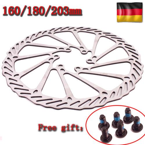 MTB Fahrrad Rad Bremsscheibe 160//180mm 6 Schrauben Bremsscheibe Fit SHIMANO//SRAM