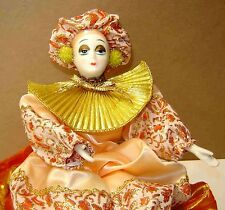 """PORCELAIN LADY/CLOWN MUSIC BOX - Plays """"EVERGREEN"""" from GREEN GABLES CREATIONS"""