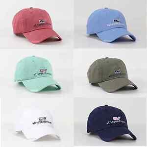 4b5e2f17779 2018 Vineyard Vines Men   Women Whale Logo Golf Baseball Cap Hat For ...