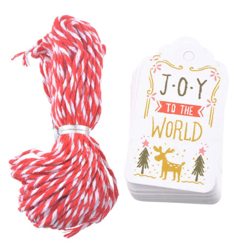 50PCs//Set Paper Tags /& String DIY Craft Label Party Christmas Hanging Ornaments