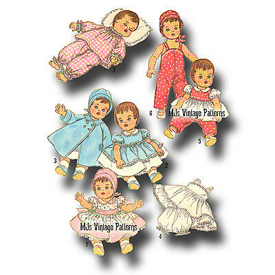 """Betsy Wetsy Tiny Tears Doll Clothes Vtg 30s Pattern Dress Romper ~ 11/"""" Dy Dee"""