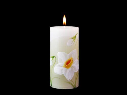Fabriqué à La Main Et Peints à la main Bougies Narcisse pilier boule fleur cadeau votive Mixte