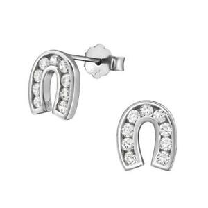 3d6489e54 Image is loading Melchior-925-Sterling-Silver-Horseshoe-Girls-Women-Stud-