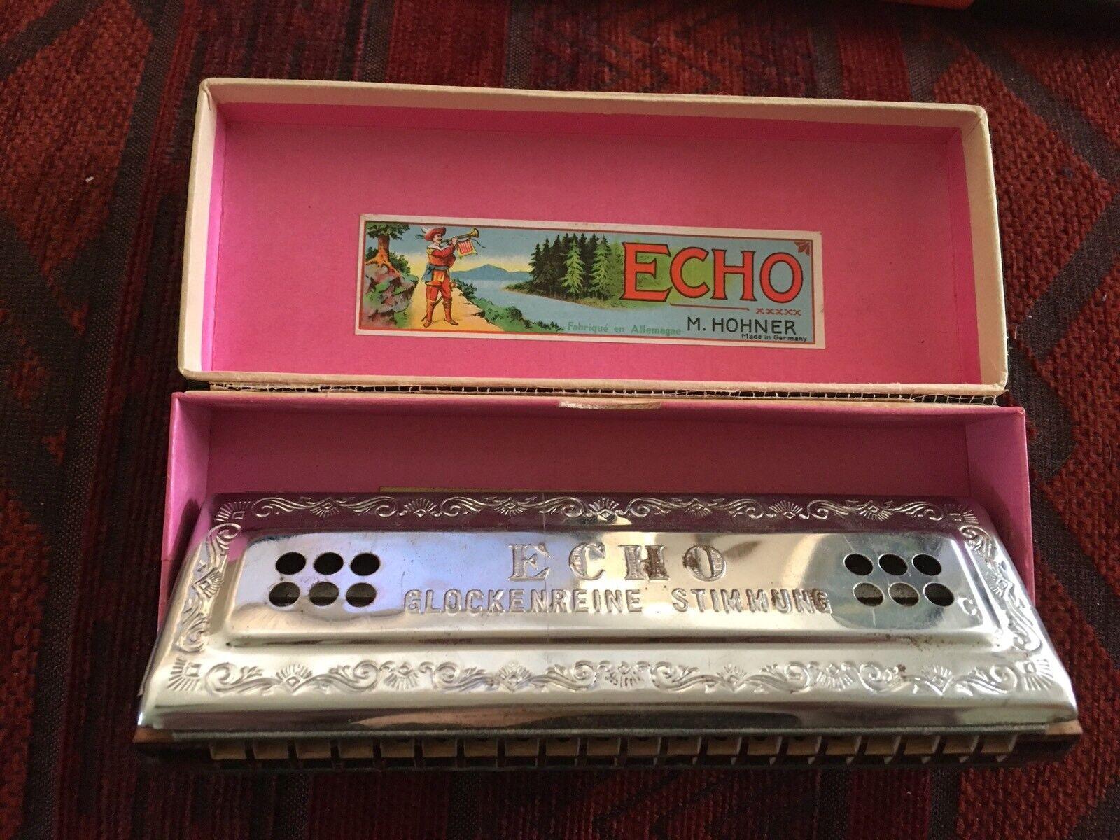 HOHNER HARMONIKA Echo Hatp - C und G - 2x32 Stimmen - Vintage