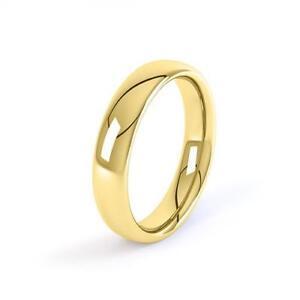 9ct-Yellow-Gold-Court-Wedding-Ring-2-3-4-5-6mm-Comfort-Fit-Wedding-Band-Hallmark