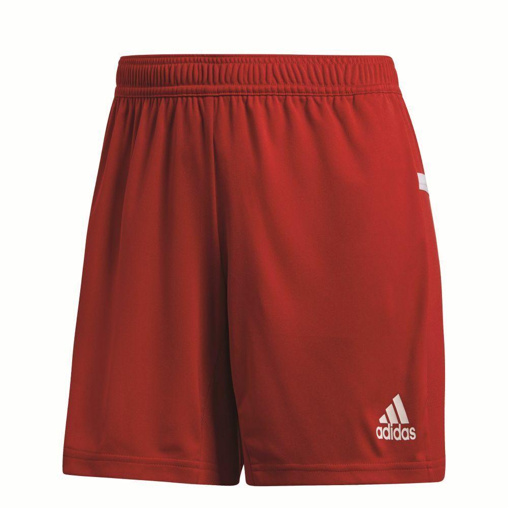 Adidas Team 19 Womens Ladies Sports Training Knit Shorts Red White