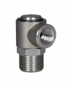 """MTM 90° Hose Reel Swivel For 50/' And 100/' Models Brass 1//2/""""M x 3//8/"""" F,4000 PSI"""