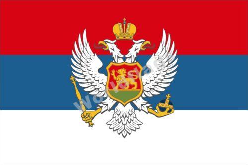 Montenegro Drapeau 3X5FT royaume principauté Historical Armée ROYAL Bannière