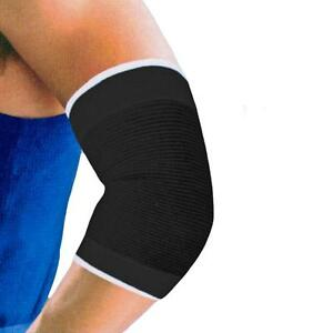 2-Black-Bandage-Tennis-Elbow-Brace-Support-Arthritis-Injury-Gym-Sleeve-NHS-Use