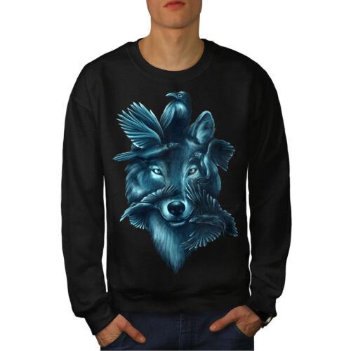 Wolf Spirit Ghost Animal Men Sweatshirt NEWWellcoda