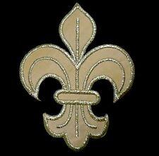 Ecusson Patch thermocollant brodé FLEUR DE LYS ROYALE Royal symbol - jaune