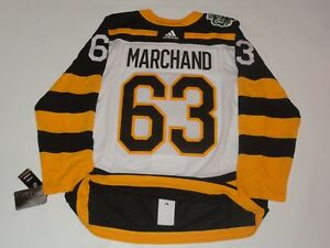 reputable site 64386 03323 Details about BRAD MARCHAND BOSTON BRUINS ADIDAS 2019 WINTER CLASSIC JERSEY  52 RARE