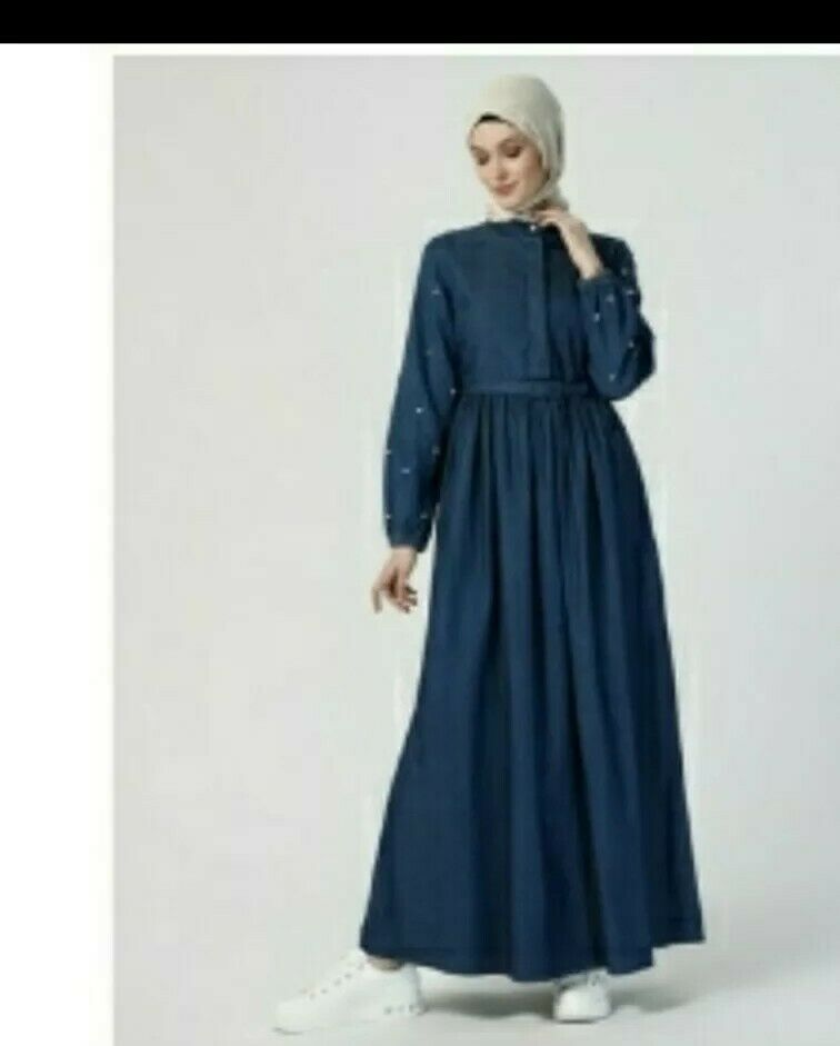 Muslim Turkish Denim Dress