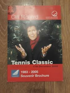 CLIFF-RICHARD-TENNIS-CLASSIC-BIRMINGHAM-2005-PROGRAMME-amp-TICKET-STUB
