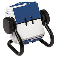 Rolodex Open Rotary Card File Holds 250 1 3/4 X 3 1/4 Cards Black 66700