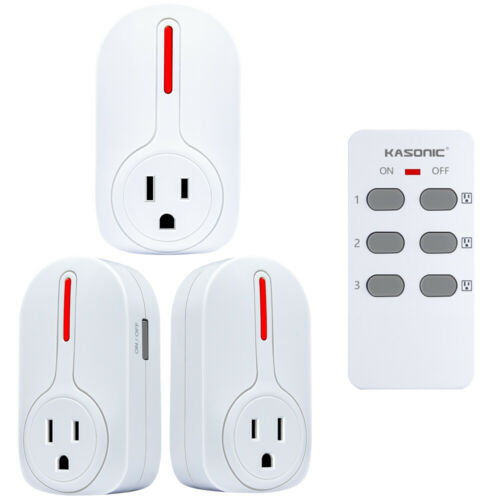 Wireless Remote Control Outlets Light Sockets Multipurpose Combo Set ETL-Listed