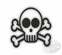 18 x Skull & Crossbones Stickers Car Window Wall Decals