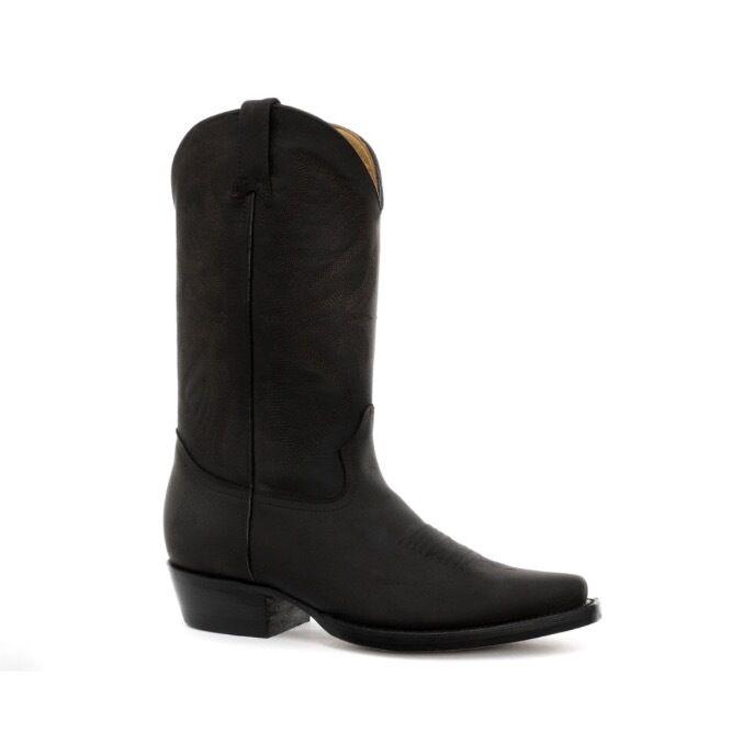 Grinders Unisex Cowboy Klassisch Echtleder Blockabsatz Western Cowboy Unisex Stiefel Louisiana 0349ef
