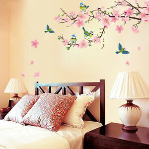 DIY-Wall-Sticker-The-peach-blossom-And-The-swallow-Wallpapers-Art-Mural-Waterpro