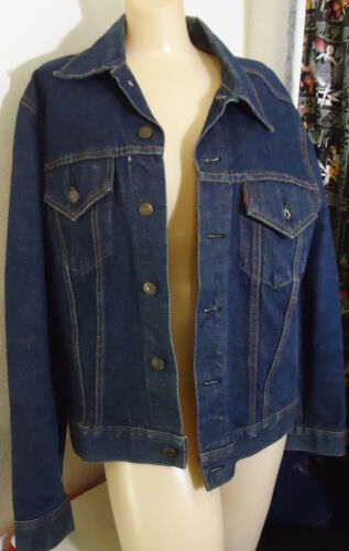 Vtg Levis Denim Jean Jacket 46 Single Needle Beat