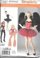 2067 MISSES ADULT COSTUMES SIZES 6-12 SIMPLICITY PATTERN 2067