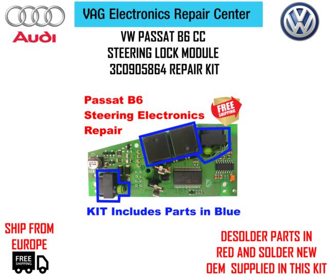 A Pair Micro Switch 3C0905864 REPAIR KIT for VW Passat B6 CC ...