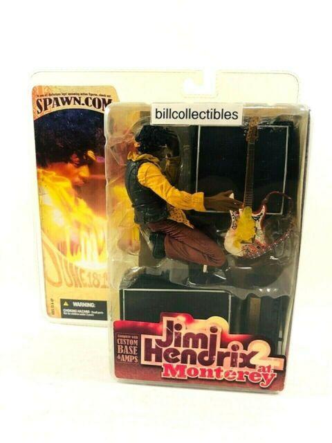 "Jimi Hendrix w Guitar Monterey Pop Festival 7/"" Inch Action Figure Toy New In Box"