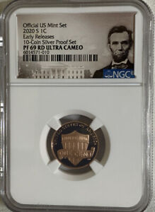 2020 S Lincoln Cent F.D.O.I From 10-Coin Proof Set NGC PF70 RD UC Portrait