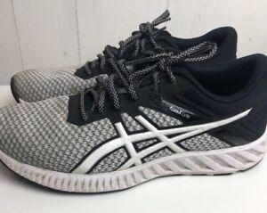 f0cb23b6400b ASICS Fuzex Lyte 2 Women s Running Shoe Size 9.5 Black white lace ...