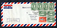 MALAYA STRAITS SETTLEMENTS 1964 SINGAPORE MIX FRANKING AIRMAIL COVER TO CYPRUS