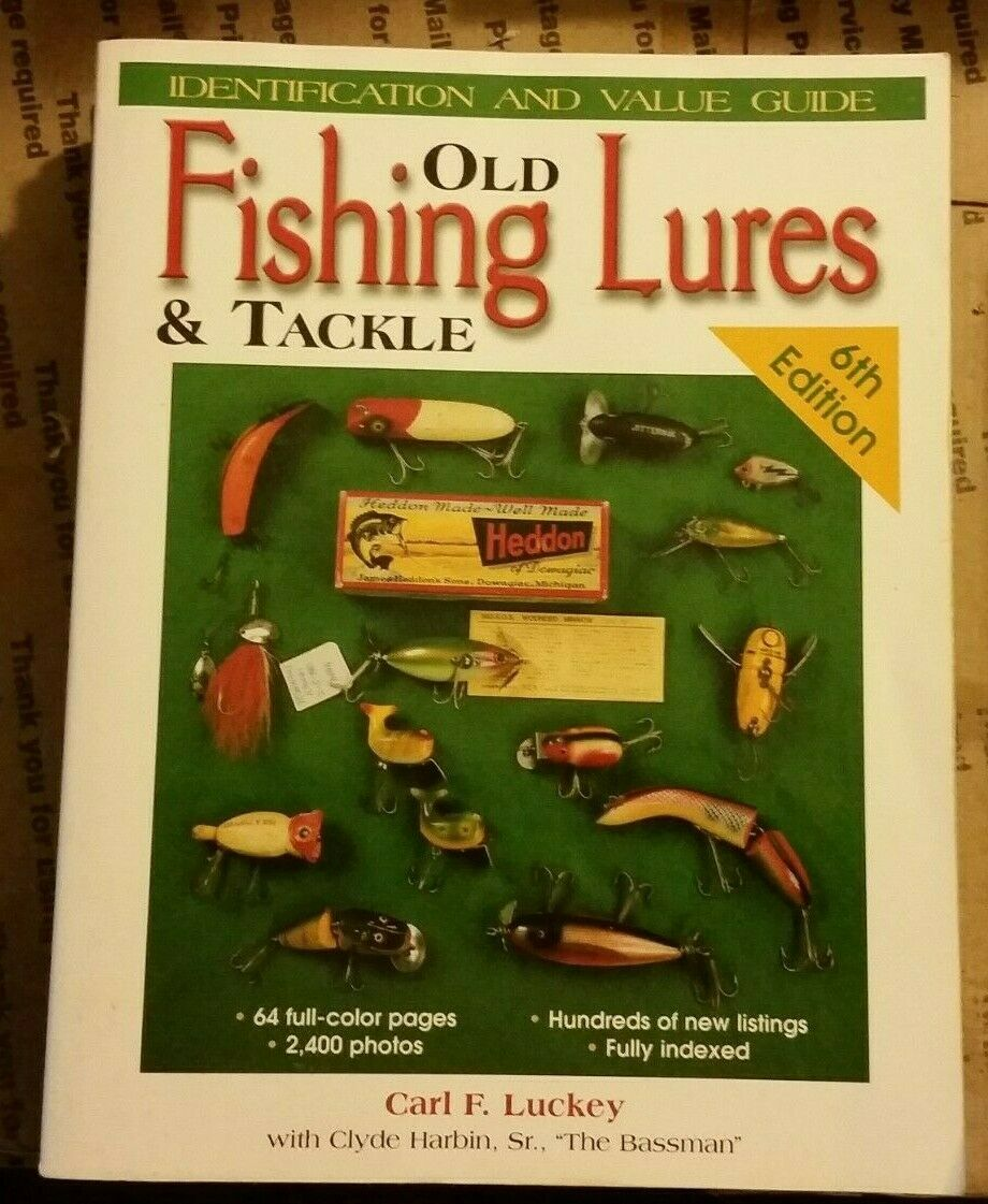 VINTAGE LARGE FISHING LURE++ VALUE GUIDE COLLECTOR'S BOOK 768 Pages