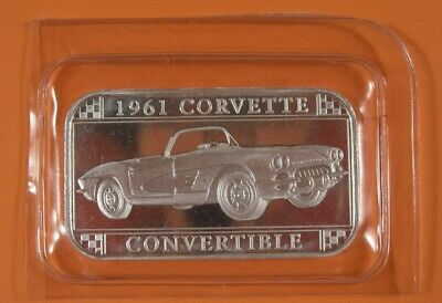 1961 Corvette 1 Oz Pure Silver Bar And Children Women Official Gm Licensed Suitable For Men
