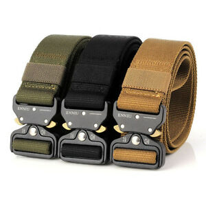 Details about Outdoor Heavy Duty Rigger Military Tactical Belt with  Quick-Release Metal Buckle