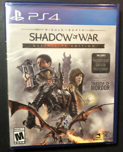 Middle Earth Shadow Of War Edición Definitiva Ps4 Nuevo Ebay